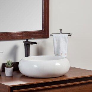 Laguna Marble Artic Stone Circular Vessel Bathroom Sink
