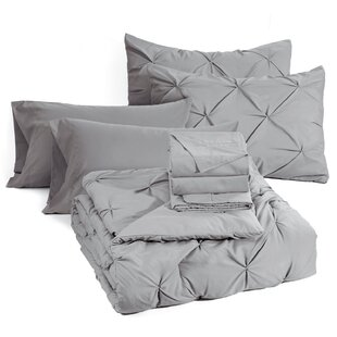 Naveen Bed in a Bag Pinch Pleat Down Alternative Comforter Set by Rosdorf Park