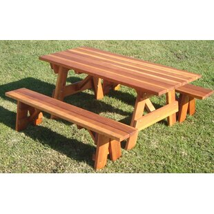 Kensington Redwood Picnic Table
