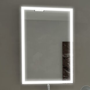 Check Prices Kristian Illuminated Bathroom/Vanity Wall Mirror By Orren Ellis