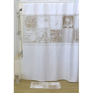 Paris Romance Printed Single Shower Curtain