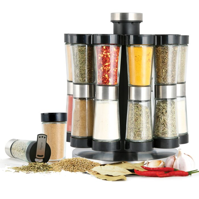 Hourglass 20 Spice Jar & Rack Set