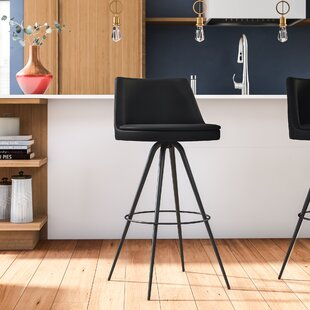 Lobo 29 Swivel Bar Stool Brayden Studio