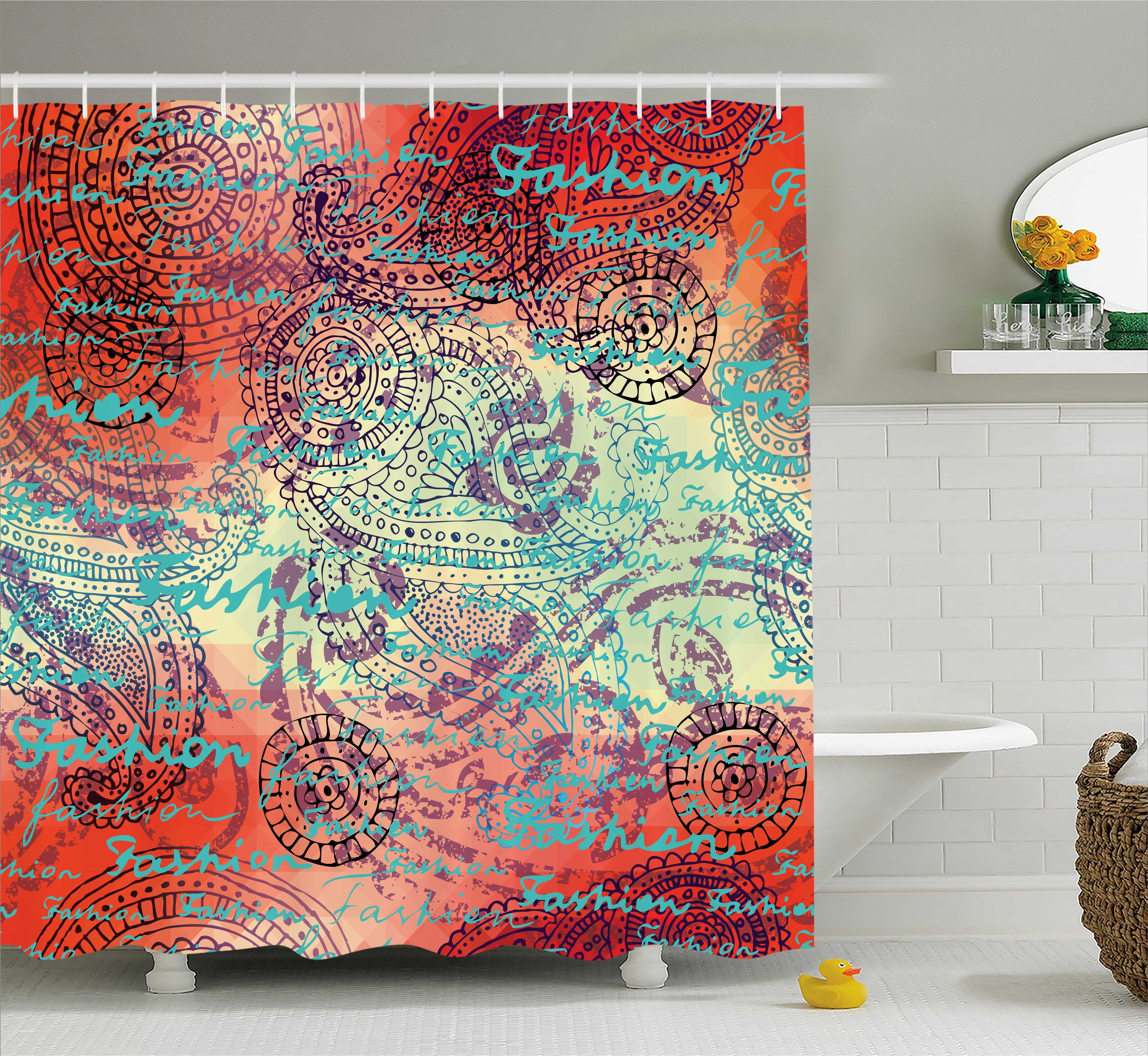 bloomsbury market alvarado grunge indian paisley shower curtain hooks wayfair