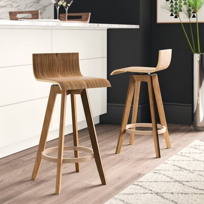 Fabulous Mercury Row Dery 24 Swivel Bar Stool Machost Co Dining Chair Design Ideas Machostcouk