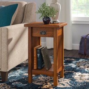 Oakcrest End Table With Storage by Charlton Home