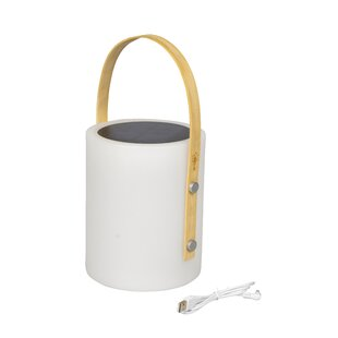 Altman White Plug-In LED Table Lamp By Freeport Park