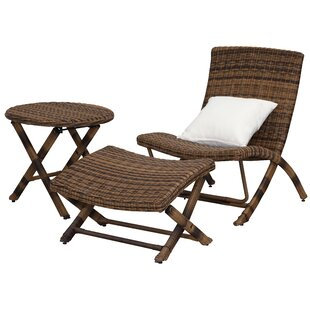 Sebring Reclining Sun Lounger With Table And Stool By Bay Isle Home