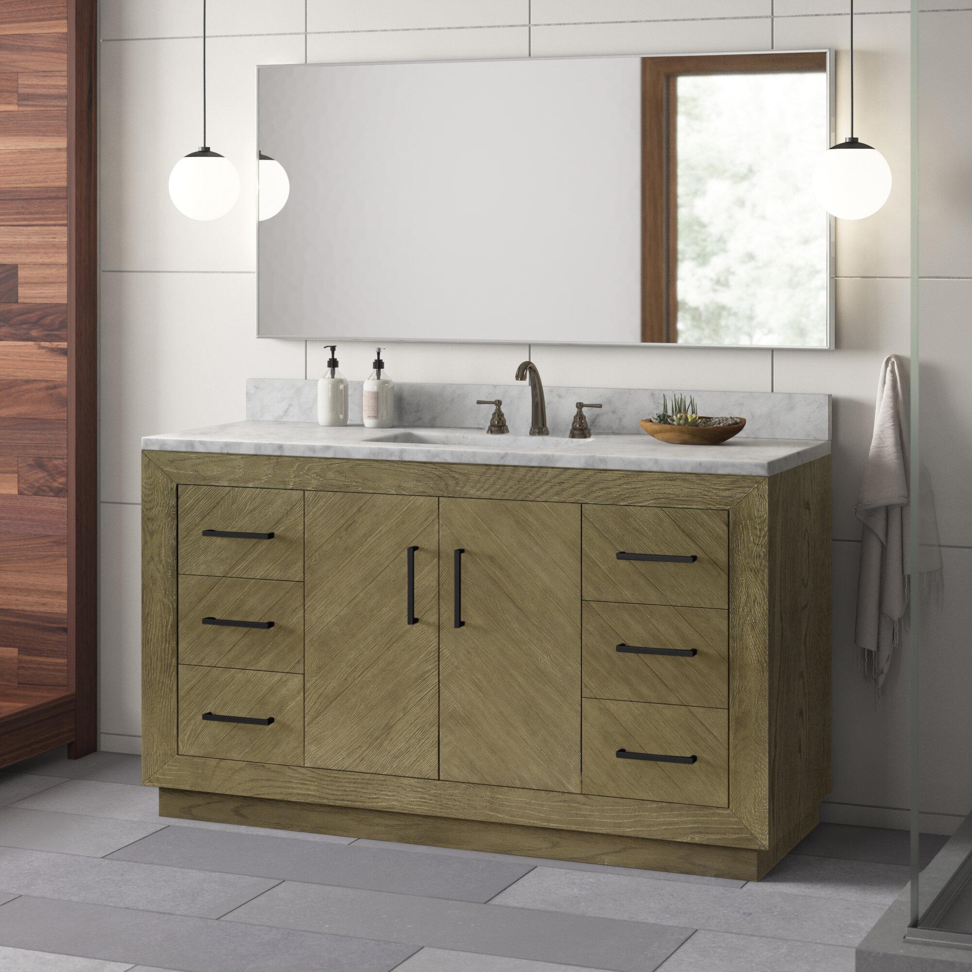 Modern 56 60 Bathroom Vanities Allmodern