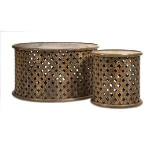 One Allium Way Gajcak 2 Piece Coffee Table Set