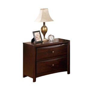 Spigner Contemporary Wooden 2 Drawer Nightstand by Winston Porter