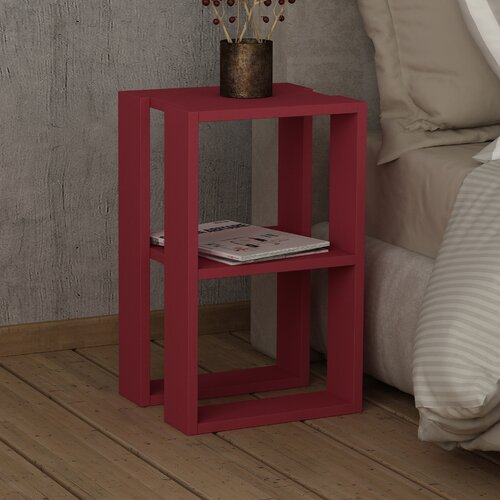 Nachttisch Payton 17 Stories Colour: Burgundy | Schlafzimmer > Nachttische | 17 Stories