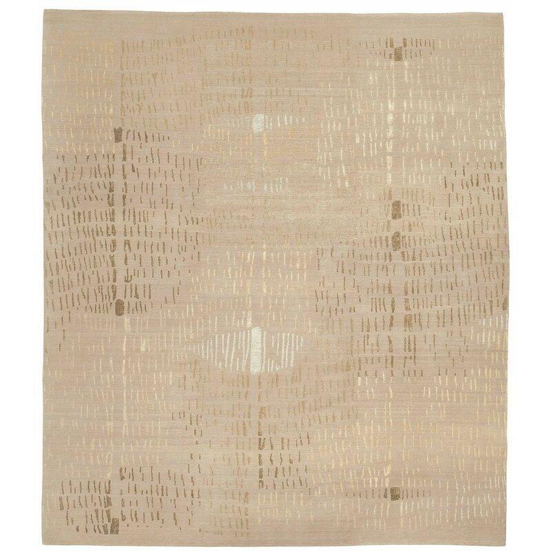 Tufenkian Prati Abstract Hand Knotted Wool Silk Beige Area Rug Wayfair