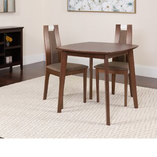 Hulme 3 Piece Solid Wood Dining Set by Winston Porter
