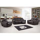 Air Reclining 3 Piece Leather Living Room (Set of 3) by Red Barrel Studio