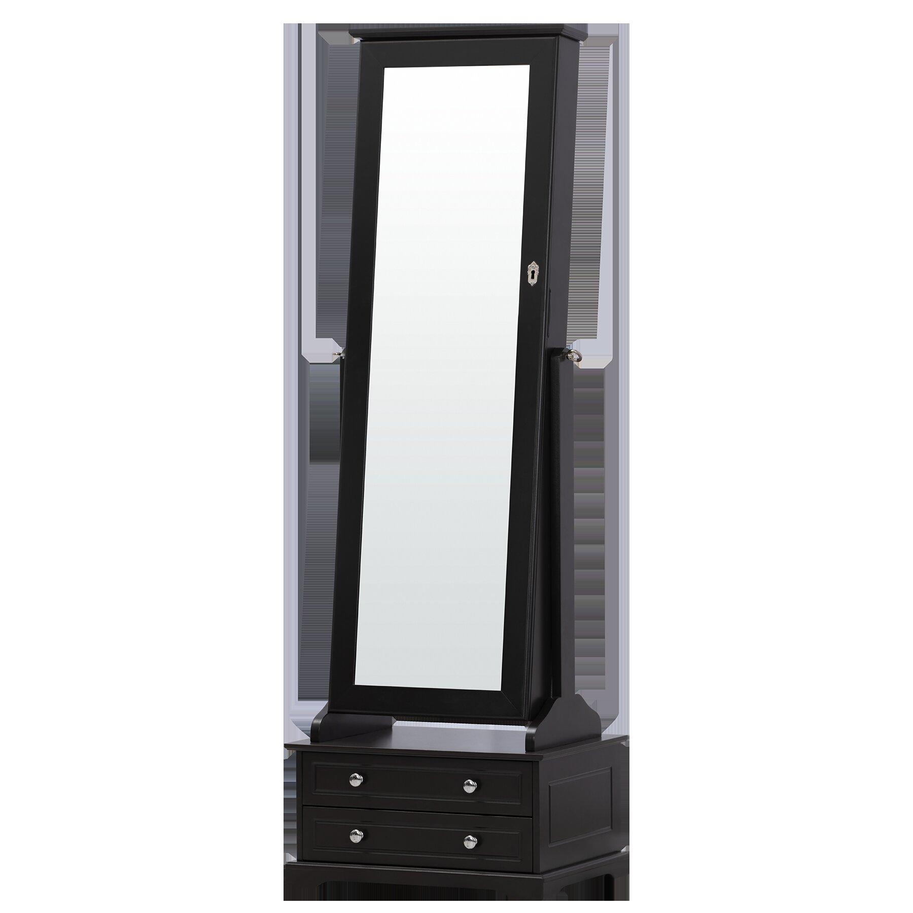 Merveilleux Canora Grey Odacia Free Standing Jewelry Armoire With Mirror | Wayfair