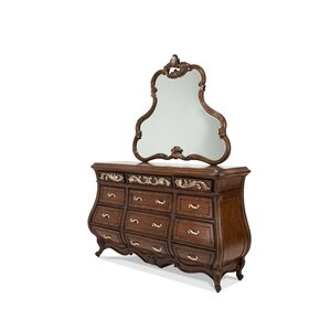 Platine De Royale 12 Drawer Dresser with Mirror by Michael Amini (AICO)