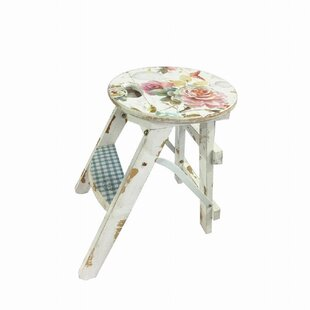 Flowers Decorative Stool By Lily Manor
