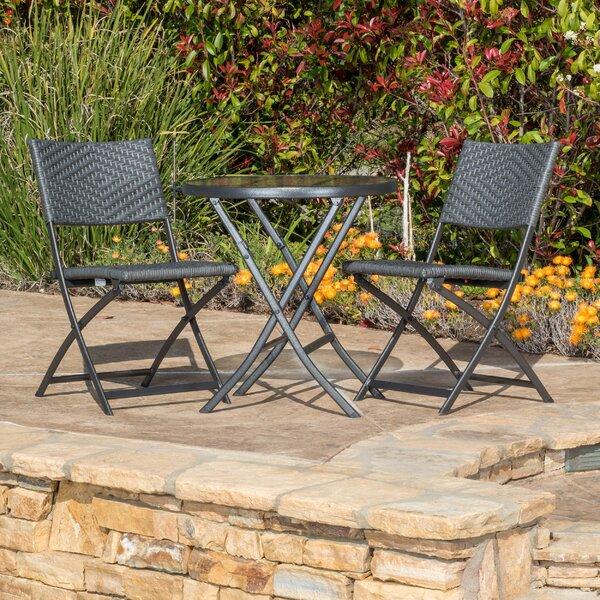 wrought iron patio bistro set wayfair