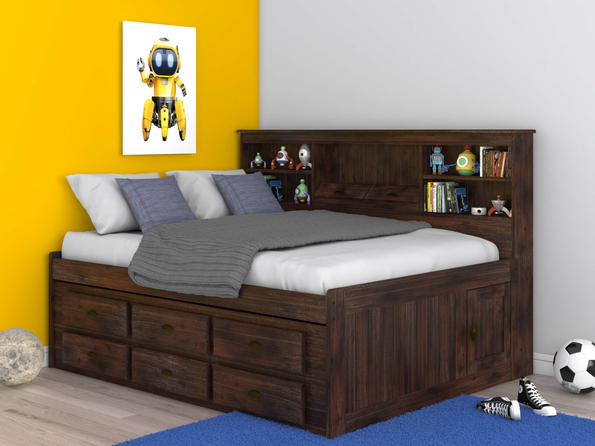 - Birch Lane™ Heritage Marea Full Daybed With Bookcase And Drawers