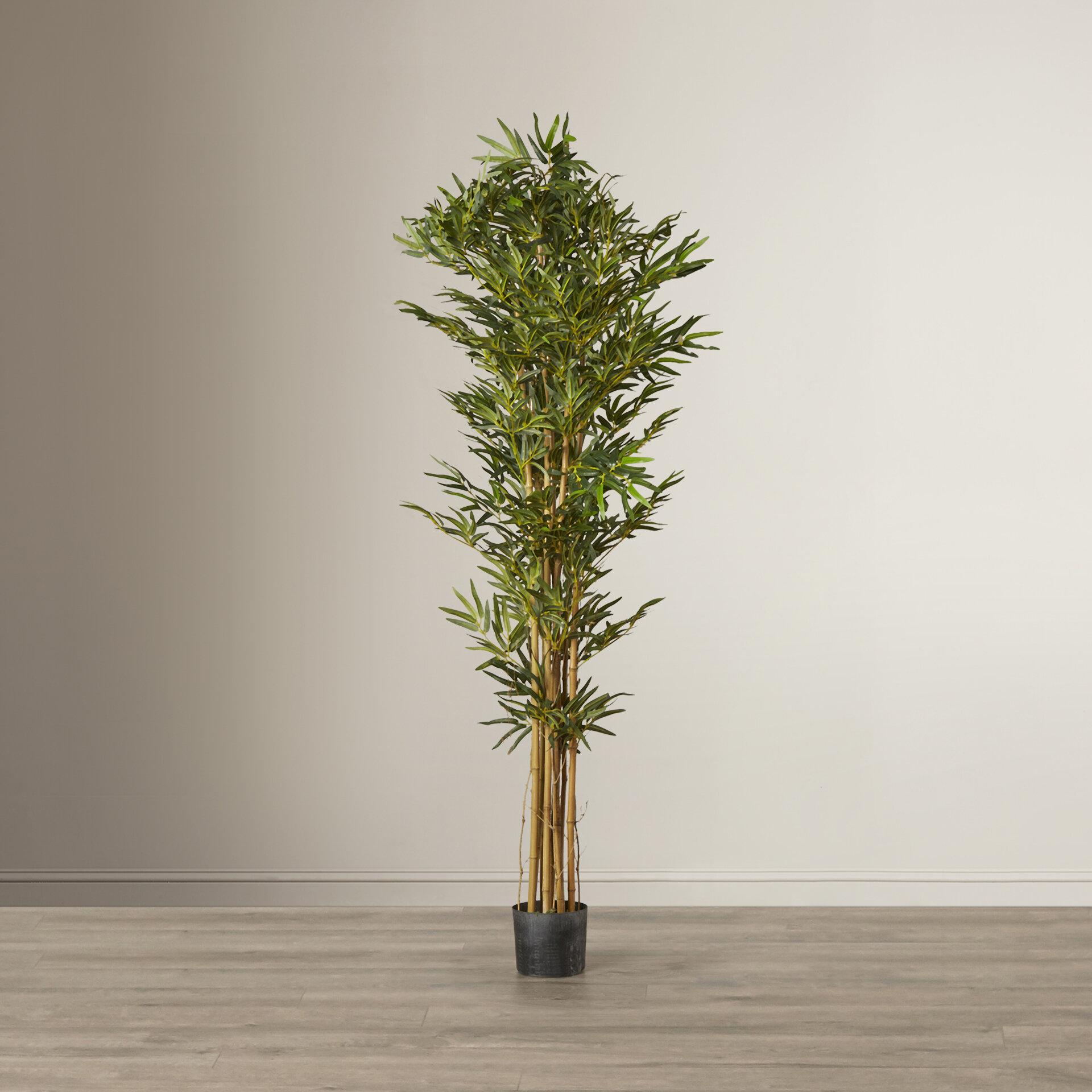 Mistana Artificial Bamboo Tree In Pot Reviews Wayfair
