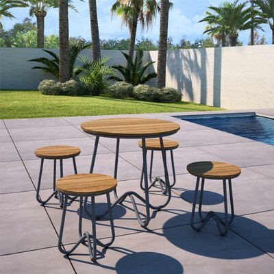Bobbi Outdoor 5 Piece Bistro Set by Novogratz 2020 Sale