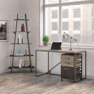 Greyleigh Edgerton Industrial 3 Piece Rectangular Desk Office Suite