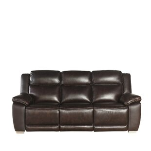 Look for Evansburg Leather Reclining Sofa by Red Barrel Studio Reviews (2019) & Buyer's Guide