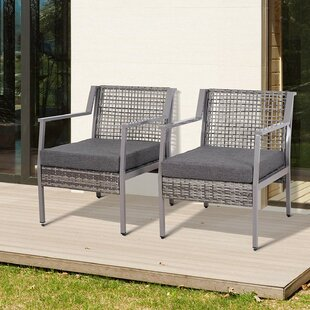 Pick Patio Chair with Cushions (Set of 2)