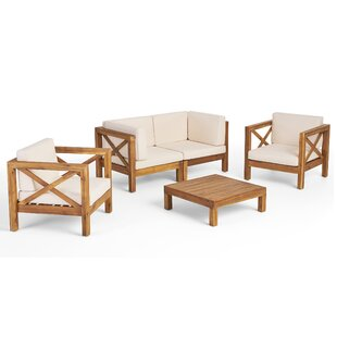 Mallie 5 Piece Sofa Seating Group with Cushions by Foundry Select
