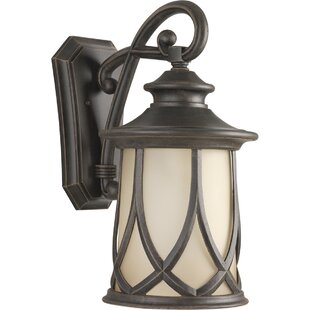 Alcott Hill Triplehorn 1-Light Outdoor 100W Wall Lantern