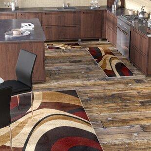 Ezekiel 3 Piece Brown Cream Area Rug Set