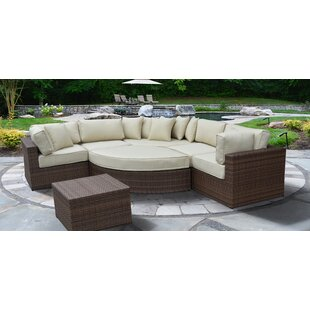 Oberon Lush and Stylish 7 Piece Sectional Set with Cushions