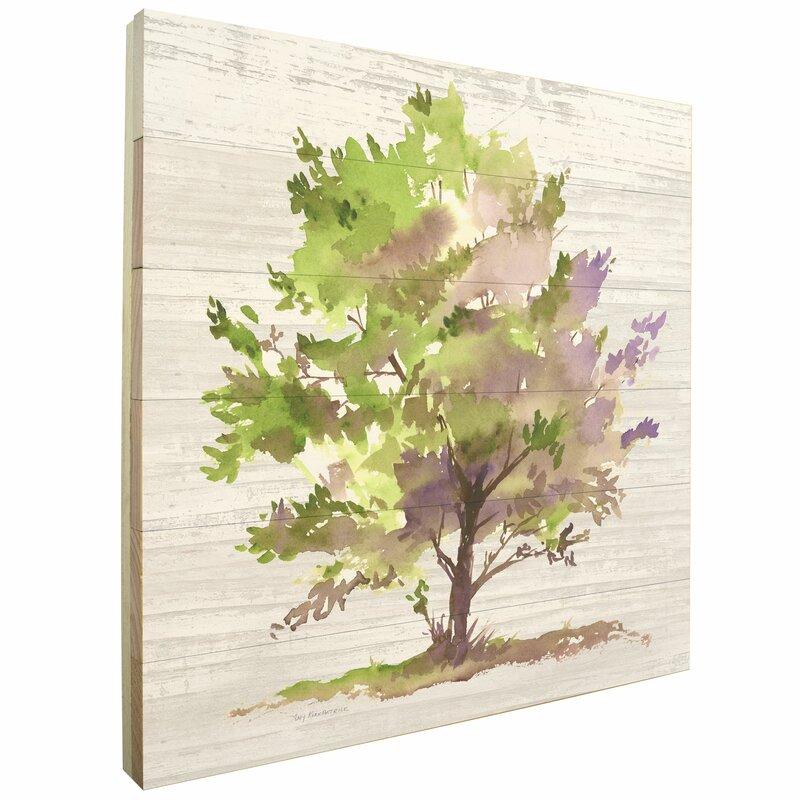 'Tree' Graphic Art Print on Wood