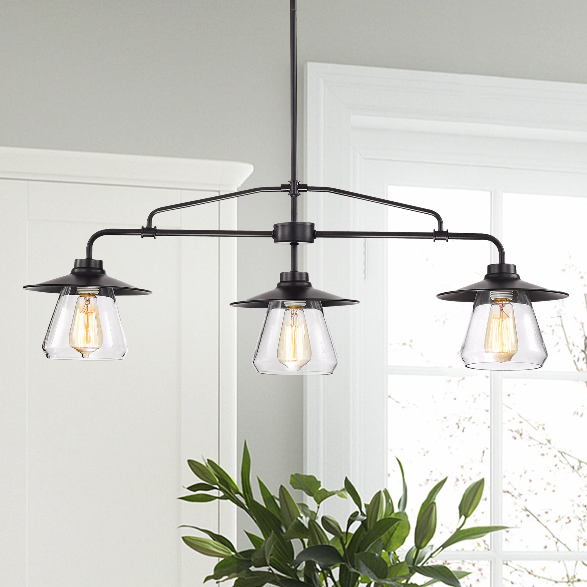 Rothrock 3-Light Kitchen Island Pendant