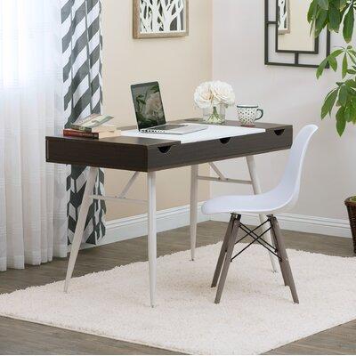 Nook Multi Storage Desk Calico Designs Color (Top/Frame): Dark Walnut/White