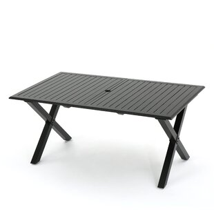 Lourdes Cast Aluminum Extendable Dining Table