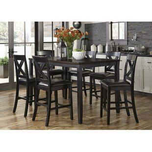 Darby Home Co Nadine Rectangular 7 Piece Breakfast Nook Dining Set