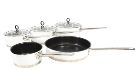accents 5piece nonstick stainless steel cookware set