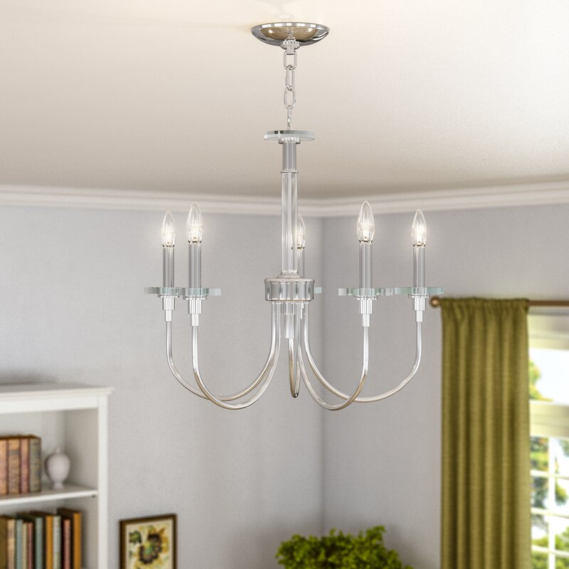 Alcott Hill Symonds 5 Light Candle Style Classic Traditional Chandelier With Crystal Accents Reviews Wayfair