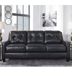 Stouffer Leather Sleeper Sofa by Red Barrel Studio