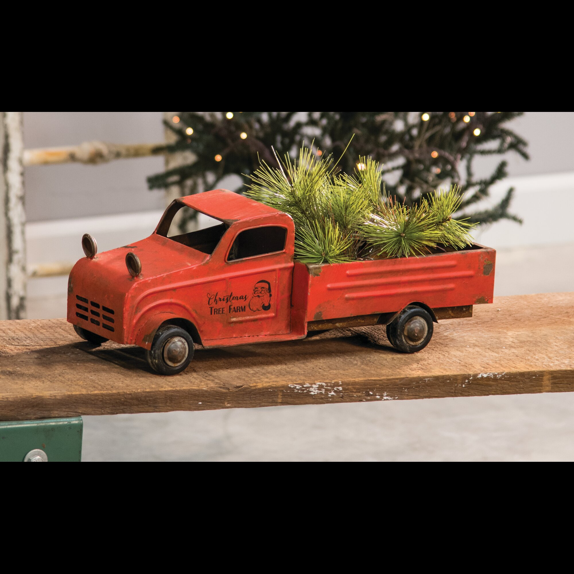 Vintage Red Truck Christmas Placemats.Red Truck Wayfair