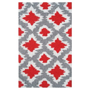 Best Reviews Beaumont Hand-Hooked Red/Gray Area Rug By Threadbind
