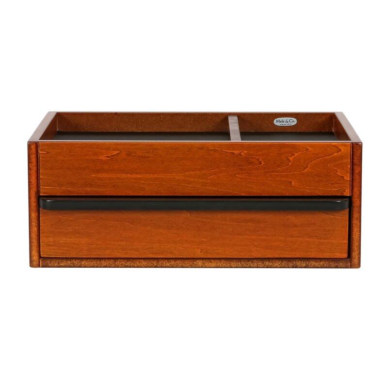 Alcott Hill Men's Wooden Dresser Top Jewelry Box | Wayfair
