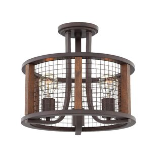 17 Stories Fifi 3-Light Semi Flush Mount