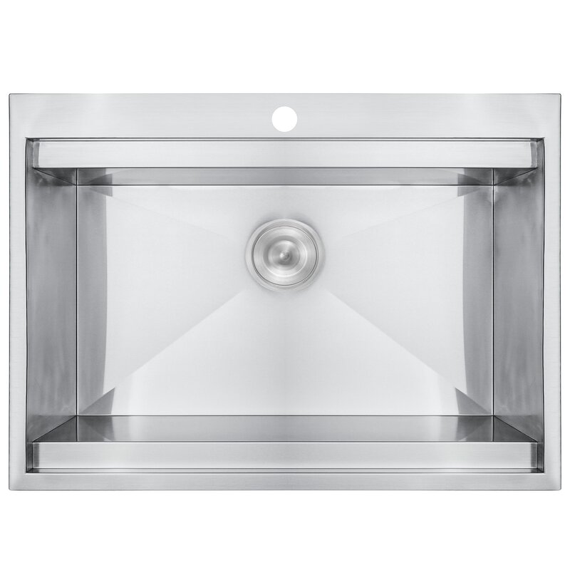 stainless steel 30   x 22   drop in kitchen sink with adjustable tray and akdy stainless steel 30   x 22   drop in kitchen sink with      rh   wayfair com