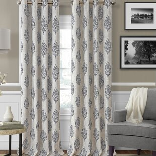 Atticus Ikat Room Darkening Thermal Grommet Single Curtain Panel by Eider & Ivory