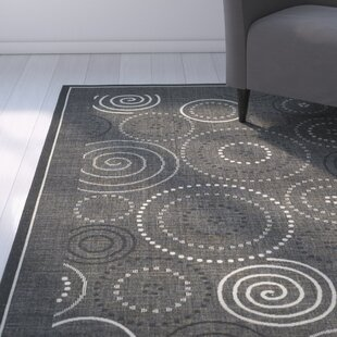 Mullen Black/Sand Circle Indoor/Outdoor Area Rug
