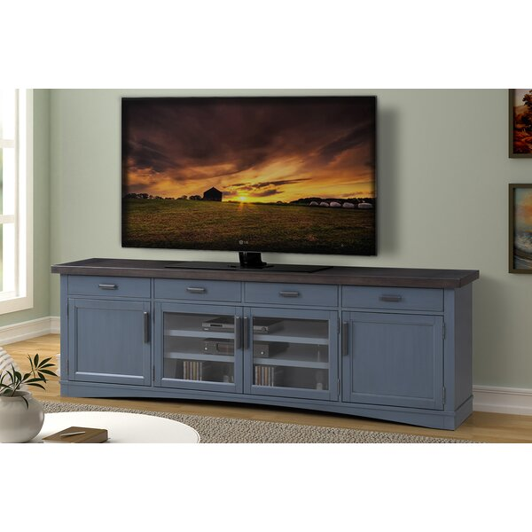 Coastal Farmhouse Abalone Tv Stand For Tvs Up To 88 Reviews Wayfair