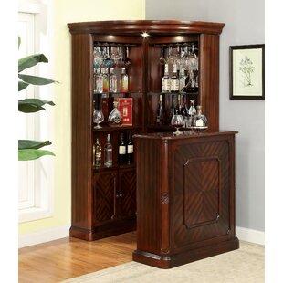 Batten Corner Curio Cabinet by Astoria Grand